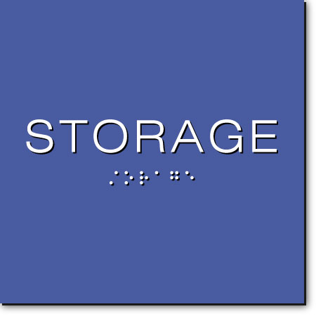 STORAGE Sign | White on Blue