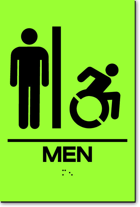 NY MEN ACCESSIBLE RESTROOM Sign | LaserGlow
