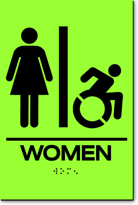NY WOMEN ACCESSIBLE RESTROOM Sign | LaserGlow