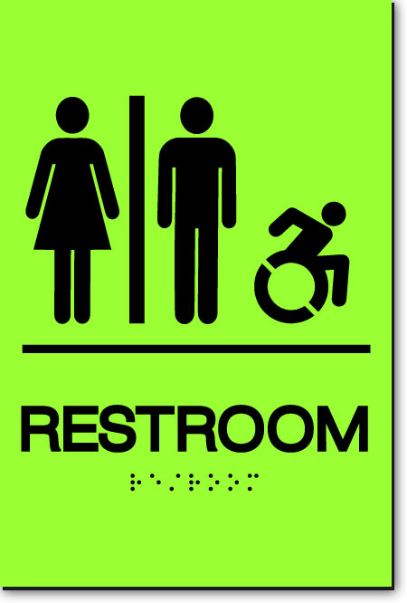 NY UNISEX ACCESSIBLE RESTROOM Sign | LaserGlow