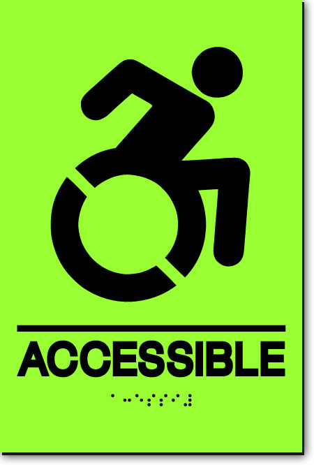 NY ACCESSIBLE Sign | LaserGlow