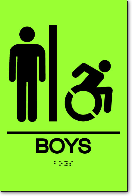 NY BOYS ACCESSIBLE RESTROOM Sign | LaserGlow
