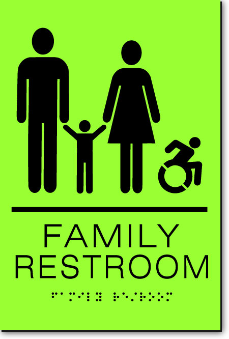 NY FAMILY ACCESSIBLE RESTROOM Sign | LaserGlow