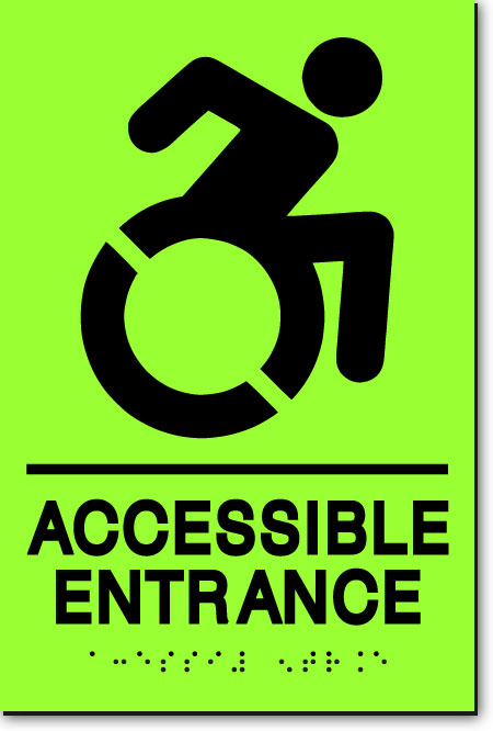 NY ACCESSIBLE ENTRANCE Sign | LaserGlow