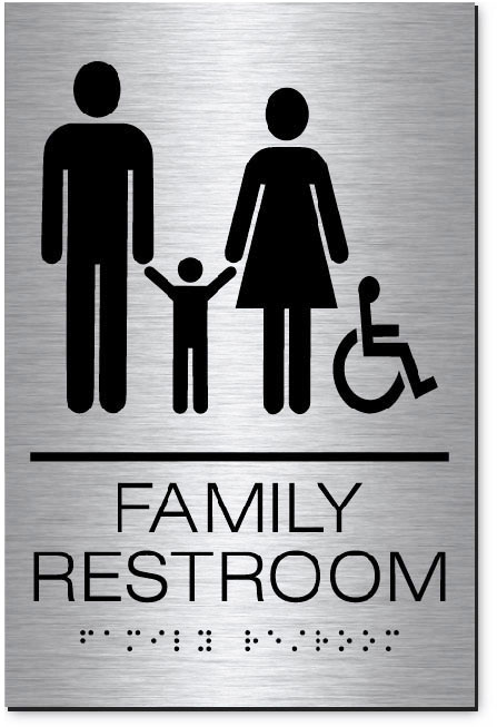 Family Accessible Restroom | MetalGraph Brushed Aluminum
