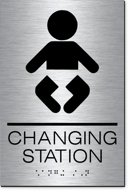 Changing Station Sign | MetalGraph Brushed Aluminum