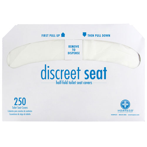 Hospeco Brand Sanitary Seat Covers - 20 Packs of 250 Sheets