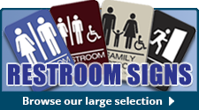 Commercial Restroom Bathroom Entrance Signs