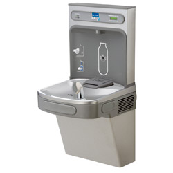 EZH2O Bottle Filling Station with Single ADA Cooler, Filtered 8 GPH Light Gray