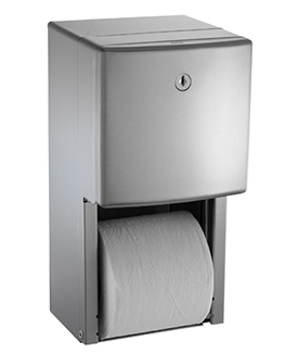 Roval Surface Mounted Twin Hide-A-Roll Toilet Tissue Dispenser
