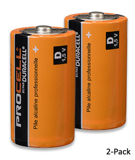 D-Cell Batteries, 2-Pack