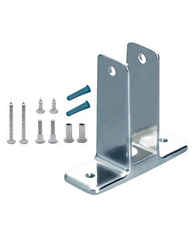 Restroom Partition Wall Bracket (1260) X-High & Screw Pack 1""