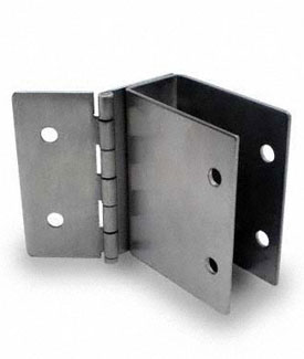 "Restroom Partition Wall Bracket Hinged 1"" X-High 3"" Long CRSS"