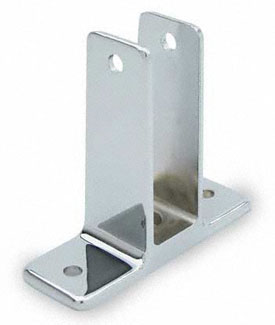 "Restroom Partition Wall Bracket 1"" Two Ear X-High"