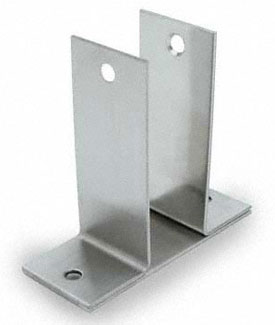 "Restroom Partition Wall Bracket 1"" Two Ear X-High  CRSS"
