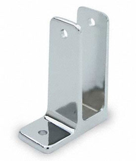 "Restroom Partition Wall Bracket 1"" One Ear X-High"