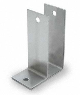 "Restroom Partition Wall Bracket 1"" One Ear X-High - CRSS"