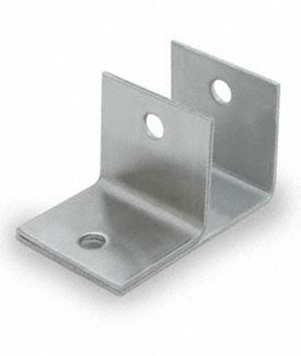 "Restroom Partition Wall Bracket One Ear 1"" Mini CRSS"