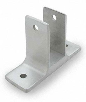 "Restroom Partition Wall Bracket Two Ear 1"" Stainless Steel"