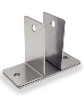 "Restroom Partition Wall Bracket Two Ear 1"" CRSS"