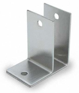 "Restroom Partition Wall Bracket One Ear 1"" CRSS"