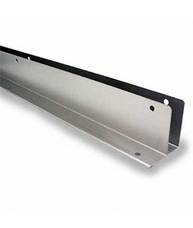 "Restroom Partition Wall Bracket One Ear 1"" x 71"" CRSS"