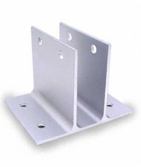 "Restroom Partition Wall Bracket Two Ear 1"" X 3"" Long Aluminum"