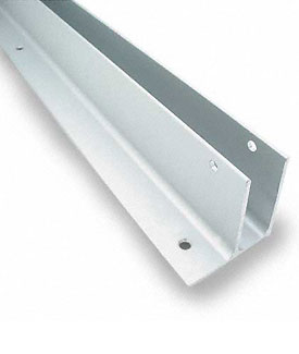 "Restroom Partition Wall Bracket One Ear 1"" X 57-1/2"" Aluminum"