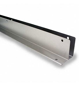 "Restroom Partition Wall Bracket One Ear 1"" X 57"" CRSS"