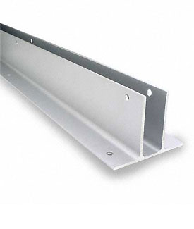 "Restroom Partition Wall Bracket Two Ear 1"" X 57-1/2"" Aluminum"