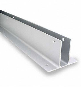 "Restroom Partition Wall Bracket 1"" Two Ear X 54"" Aluminum CA"