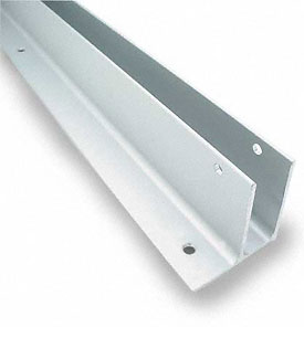 "Restroom Partition  Wall Bracket One Ear 1"" X 54"" Aluminum CA"