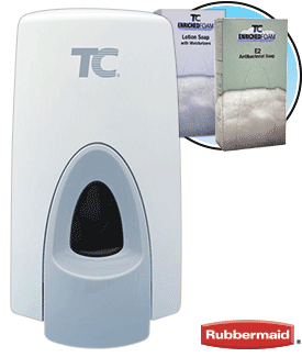 TC Manual Enriched Foam Soap Dispenser 800ml - White Cover