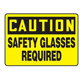 Safety Glasses Signs